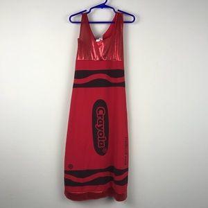 Crayola Red Crayon Color Halloween Costume Tween